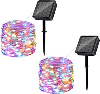 Solar String Lights Outdoor, 2 Pack 120LED Solar Powered Fairy Lights Waterproof 12M/40Ft 8 Modes Indoor/Outdoor Starry Li...