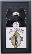 Record Album Double Vinyl LP Frame Display Featuring Black Matting Juke Box Style Design (Black Frame)