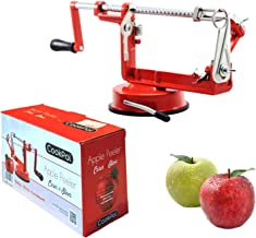 Apple peeler slicer corer - Potato peeler - Kitchen slicer - Heavy-duty Stainless Steel blades and a strong suction base - Hand Spiralizer - Durable Die-Cast Iron Frame.