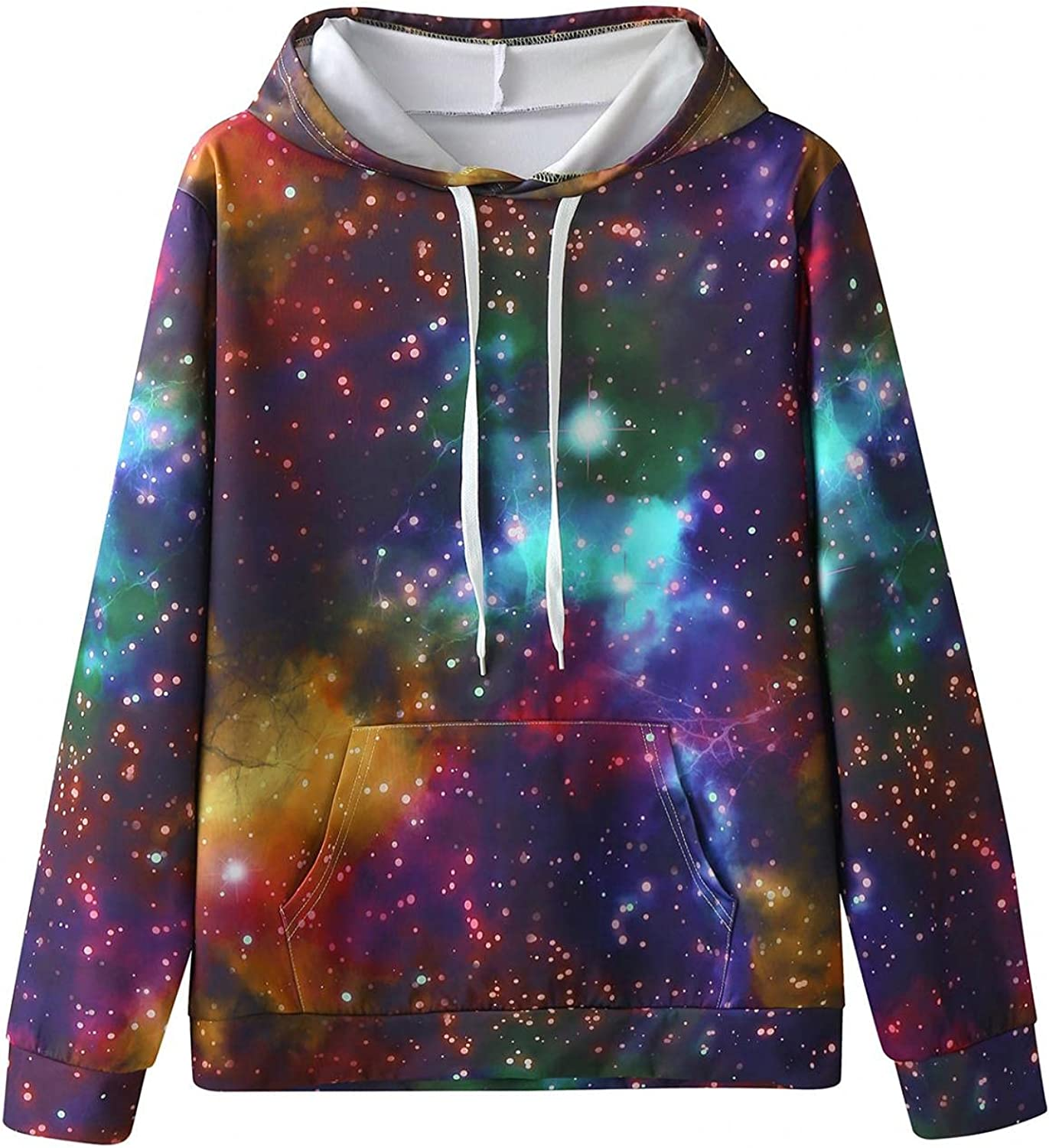 Qsctys Men's Sweatshirts Hoodies Crewneck 3D Print Lightweight Fashion Hipster Long Sleeve Slim Fit Hooded Casual Pullover