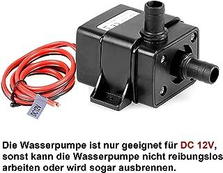 DC 24V Solarwasserzirkulationspumpe Ruhiger B/ürstenloser Motor Tauchwasserpumpe