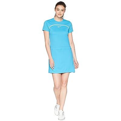 Nike Golf Dry Short Sleeve Dress (Equator Blue/Wolf Grey/Flat Silver) Women