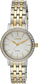 Citizen Women White Dial Stainless Steel Band Watch - EL3044-89D