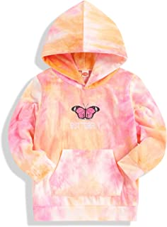 Kids Toddler Girl Clothes Butterfly Tie Dye Long Sleeve...