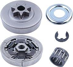 """اره برقی Adefol 3/8 """"-7T Spur Clutch Drum Sprocket Bear 5pcs bearing for Stihl MS391 MS311 قطعات تعویض با واشر کلاچ تحمل سوزن E-Clip"""