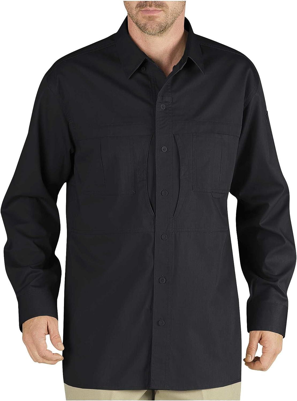 Dickies Men's Tactical Long Sleeve Wrinkle Resistant Shirt