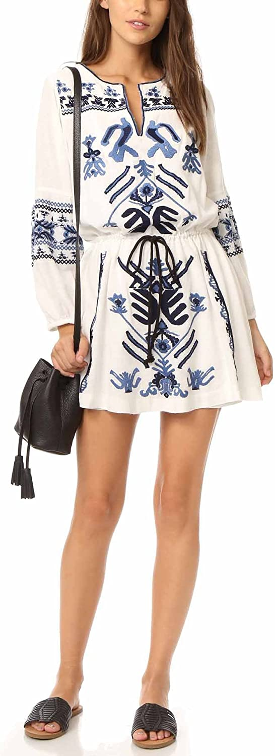 Ree People 'Anouk' Embroidered Minidress, Size Small  Ivory