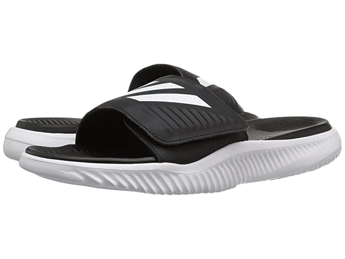 adidas  Alphabounce Slide (Footwear White/Core Black) Mens Slide Shoes
