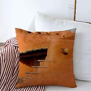 Starodal Decorative Linen Throw Pillow Covers Estate Blue Santa Southwest Fe Earth Adobe America American Angles Sky 18