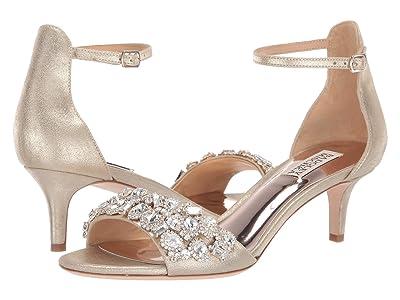 Badgley Mischka Lara II (Platino Metallic Suede) High Heels