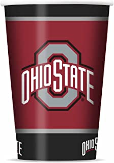 NCAA Ohio State Buckeyes Disposable Paper Cups, Pack of 20