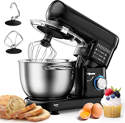 discount PHISINIC Stand Mixer, 5.8-QT 660W Household Stand Mixers, Tilt-Head Food & online sale Dough Mixer, 6-Speed Kitchen Electric Mixer with outlet sale Dough Hook, Wire Whip and Beater, for Baking, Cake, Cookie, Kneading (Black) sale