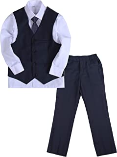 Y /& Z Boy Wedding Formal Christening Page Boy Navy Suit Slim Fit Suit 1-14 Year