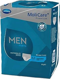 MoliCare Premium MEN PANTS, Diskrete Anwendung bei Inkontinenz speziell für Männer, 7 Tropfen, Gr. M, 4x8 Stück - Vorteilspackung