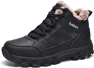 Mannen Enkel Snowboots Antislip Sneakers Winter Bont Warm Leer Outdoor Wandelen Bergbeklimmen Waterdichte Grote Maat Schoe...