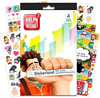 Wreck It Ralph Stickers Set -- Over 290 Ralph Breaks The Internet Stickers with Specialty 2-Sided Door Hanger (Wreck It Ralph Party Supplies)