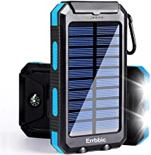 Solar Power Bank Portable Charger 20000mah Waterproof Battery Backup Charger Solar Panel Charger with Dual LED Flashlights...