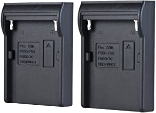 Andoer 2pcs NP-F970 Battery Plate Neweer Andoer Dual/Four Channel Battery Charger Sony NP-F550 F750 F950 NP-FM50 FM500H QM71