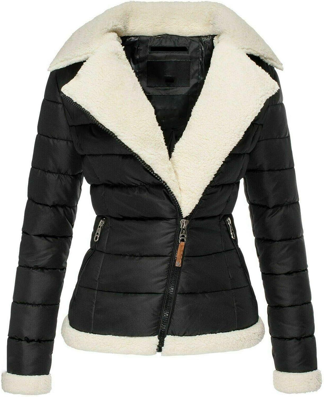 Women's 与え Winter Warm Fleece Corduroy Thicken Jacket Lapel 誕生日プレゼント