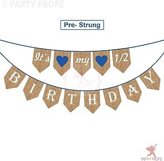 Best its my half birthday banner Reviews