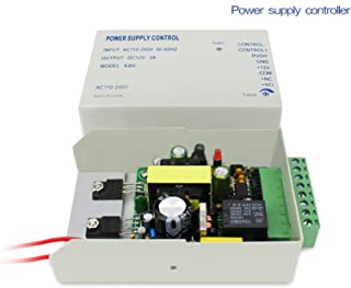 eKoi Universal DIY Professional Power Supply Control TA-K80 Module 3A/AC 110-240V for Home Door Access Controller Electric Magnetic Gate Lock System