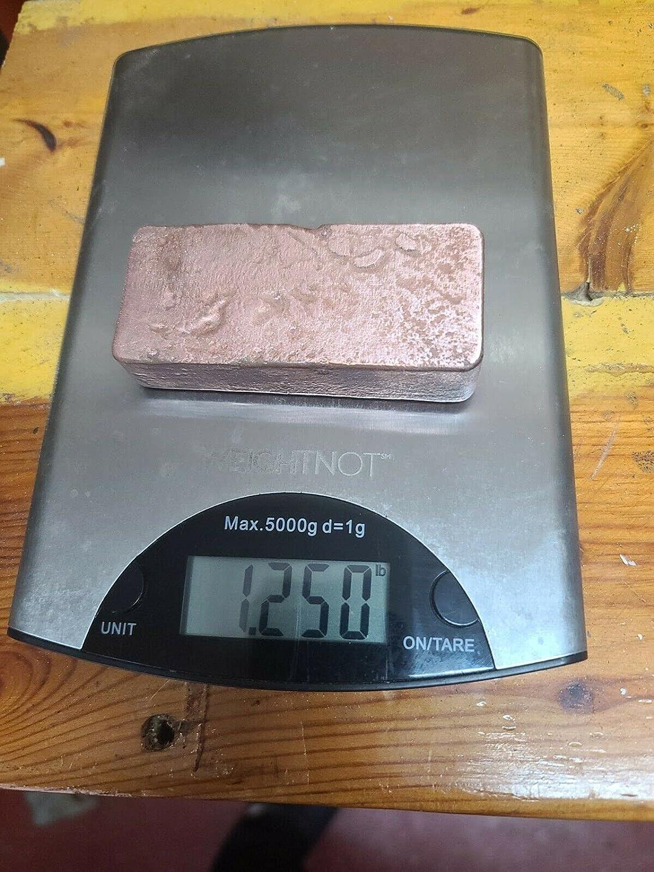 MJ2 1 Pc of Pound Poured Hand Copper free Ingot shipfree