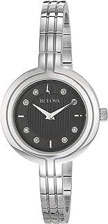 Ladies' Bulova Rhapsody Diamond Stainless Steel Watch 96P215