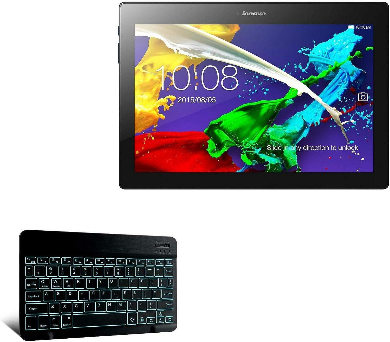 Keyboard for Lenovo Tab 2 A10 (Keyboard by BoxWave) - SlimKeys Bluetooth Keyboard - with Backlight, Portable Keyboard w/Convenient Back Light for Lenovo Tab 2 A10 - Jet Black