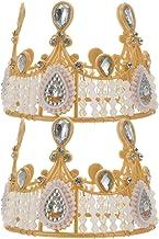 Mobestech 2pcs King Crowns Royal King Crown Rhinestone Toy Cake Topper Party Hat