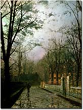 After the Shower by John Atkinson Grimshaw, 18x24-Inch Canvas Wall Art