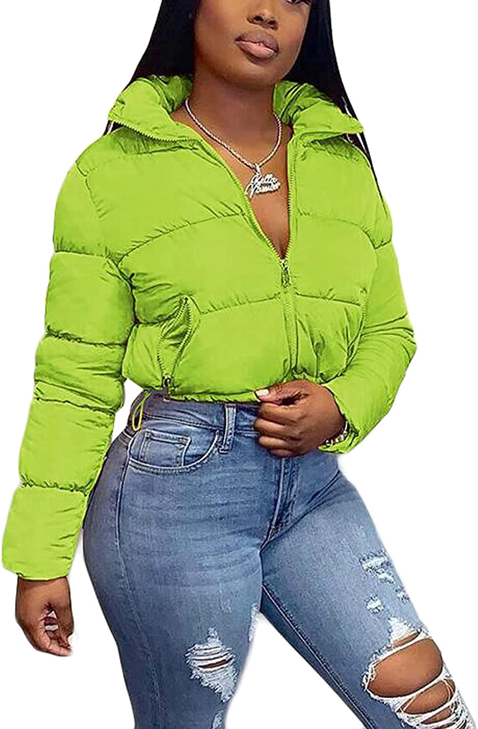 Womens Dolman Lightweight Quilted Jacket Colla OFFer Stand Long Fashionable Sleeve