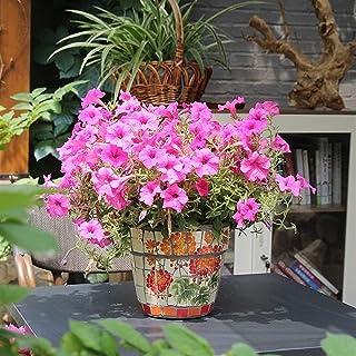 Kotee Handmålade keramiska mosaik stora blomkruka färgad keramisk stor blomkruka Spansk stil gårdsplan Villa Utomhus Trädg...