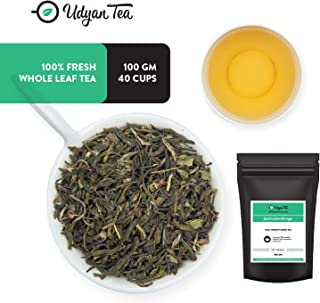 Udyan Tulsi Therapy Green Tea, 3.5 oz (40 cups) | Pure Green tea with Tulsi Leaves (Holy Basil Leaves) | Handpicked Natural Ingredients | Loose Leaf Tea in Resealable Vacuum Pouch