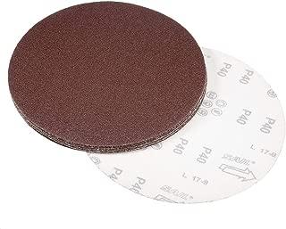 uxcell 9 Inch Sanding Disc 40 Grits Flocking Sandpaper for Sander 10 Pcs