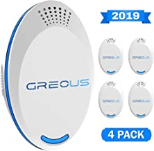 UPGRADED Ultrasonic Pest Repeller 4 Pack - Pest Defender - Control Pest Repeller Plug In - Electronic Repellent - Reject Mice Rodent Insect Mosquito Rats Spiders - Pet Safe & Indoor Quiet Device