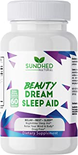 Sundhed Natural Sleep Aid Beauty Dream Sleep Aid is a Non Habit Forming Sleep Formula with Melatonin and Va...