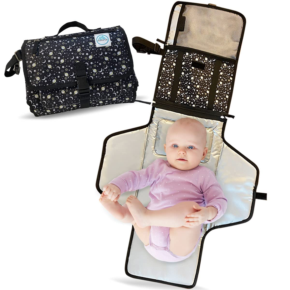 Mauna Baby Portable Changing Pad Travel Diaper Sta Mail order Max 62% OFF cheap Lightweight