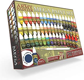 The Army Painter Miniature Painting Kit with Bonus Wargamer Regiment Miniature Paint Brush - Acrylic Model Paint Set with ...