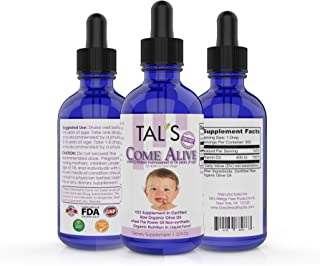 TAL'S Come Alive Infant-Children Vitamin D3 Supplement | Ages 0-14 | Non-Synthetic Liquid Drops | Vitamin D3 400IU Daily Intake | Raw Organic Olive Oil Formulation with Powerful Natural Antioxidants