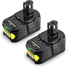 Powilling 2Pack 5.0Ah 18V Replacement Battery for Ryobi 18V Lithium Battery P102 P103..