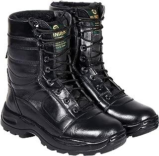 Blinder Men's Black Fur Long Boots