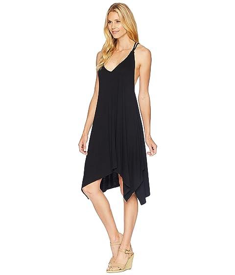 Taya con ganchillo negro de vestido de espalda Rose de American espagueti correa 1wC5qCxH