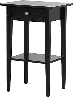 "Glory Furniture Dalton , Black Nightstand, SIDE TABLE 28"" H x 14"" W x 18"" D"