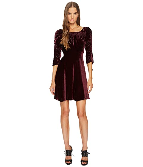 7f65211802d2 The Kooples Velvet Dress with Pleated Sleeves at 6pm