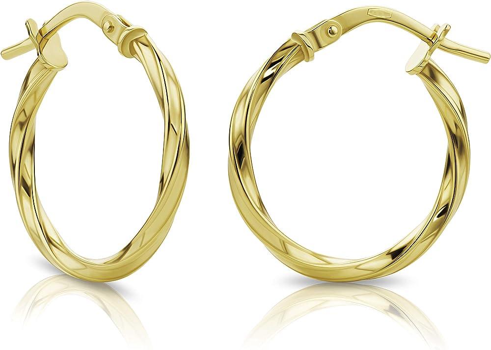 Orovi orecchini a cerchio per donna in oro giallo 18kt/750 (1,3 gr) OR72141E