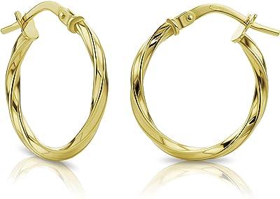 Orovi Orecchini a Cerchio da Donna in oro Giallo 18Kt 750 Cerchi in Oro