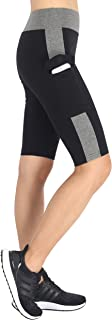 Women's Knee Length Tights Yoga Shorts Workout Pants Running Leggings with Pockets
