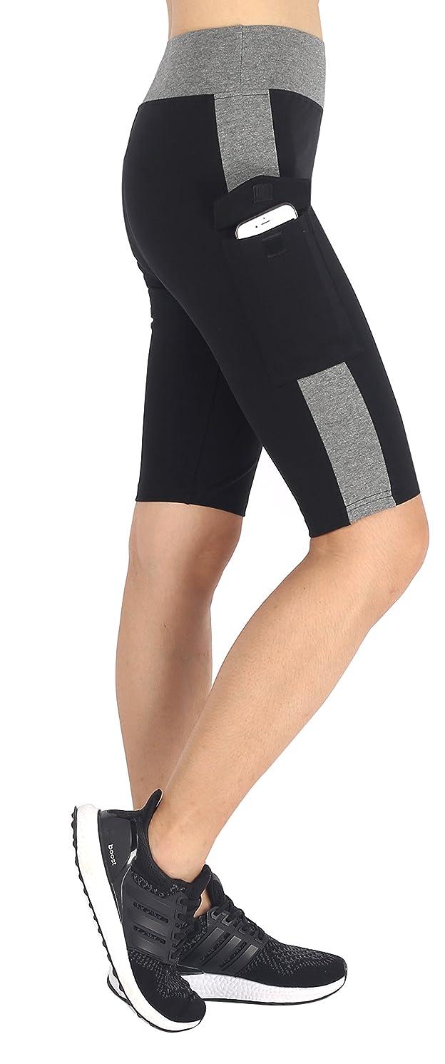 Neonysweets Womens Capri Tights Leggings Fitness Workout Pants