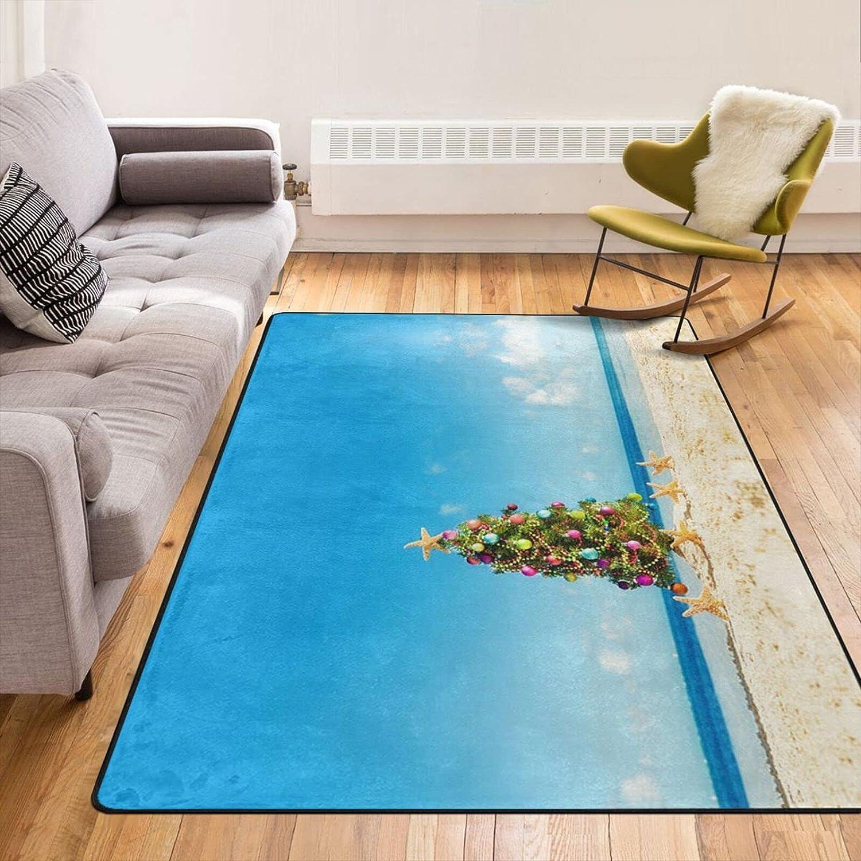 Living Room Area Rug 5' price X Tree 7' Christmas wi Printed Brand new