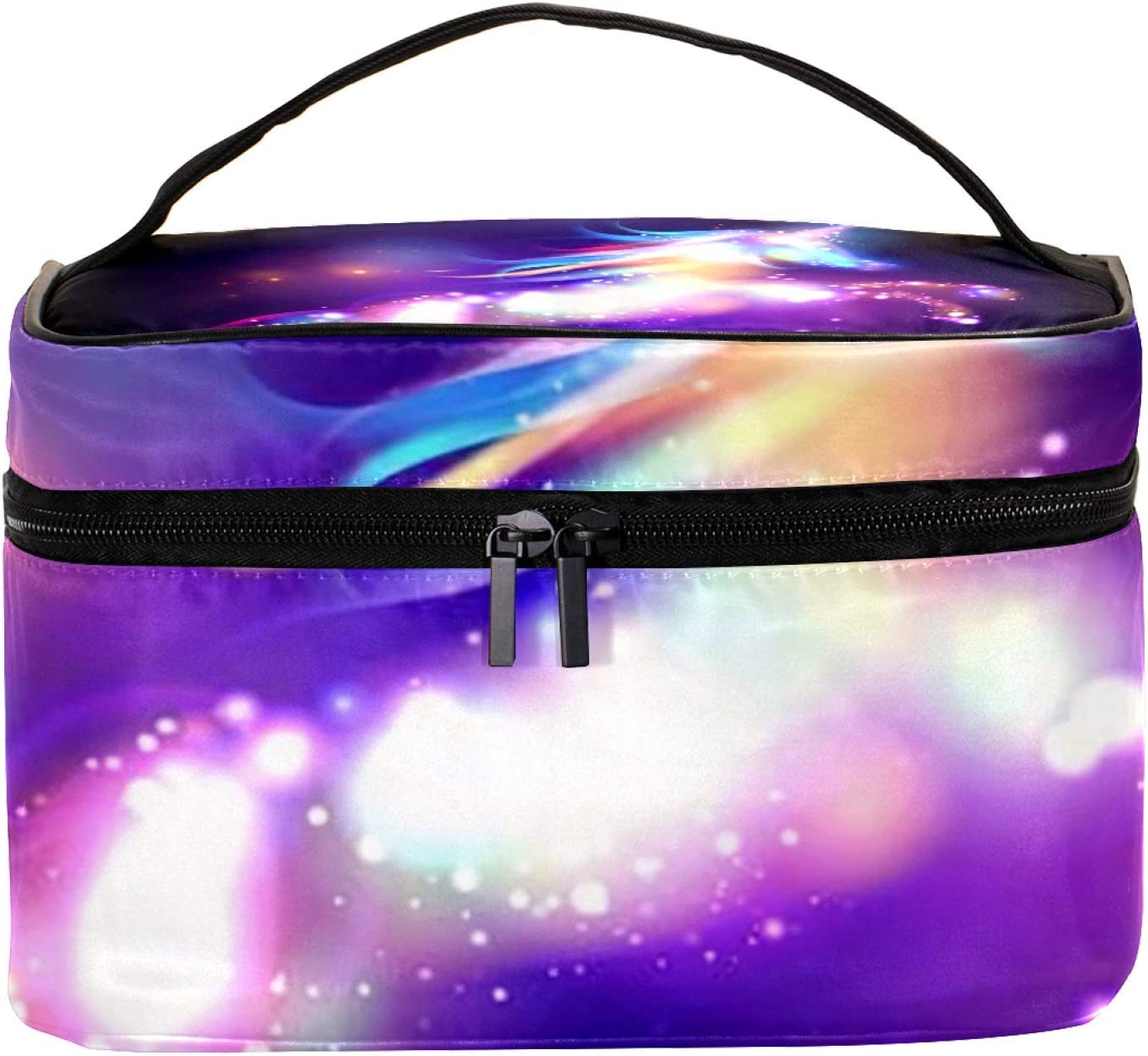 Cosmetic Bag for Women Roomy Special price a limited time Makeup unicorn Night Trave Translated Bags sky